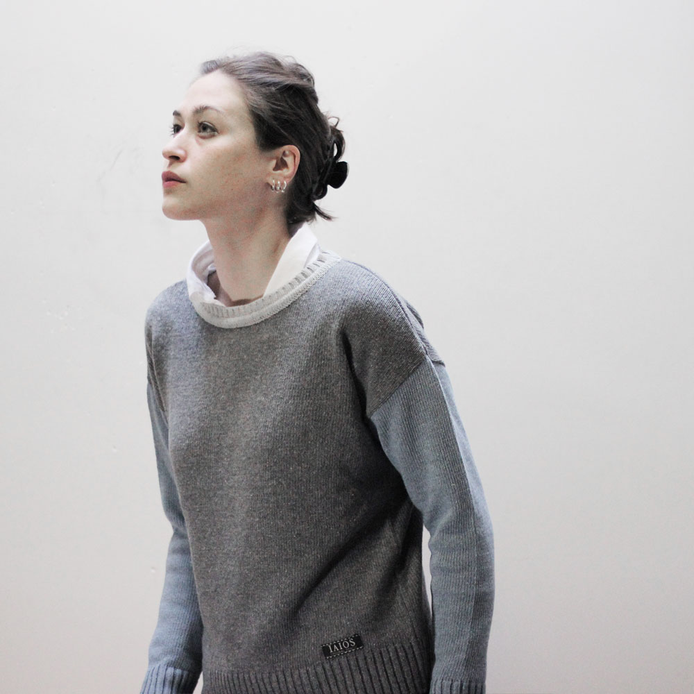 IAIOS recycled wool sweater for women