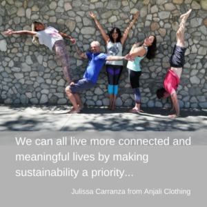 Sustainable Activewear – Julissa Carranza from Anjali Clothing