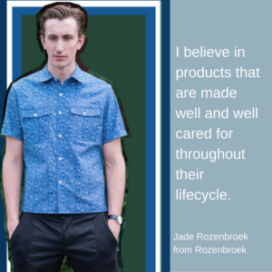 Jade Rozenbroek from Rozenbroek – Sustainable Menswear